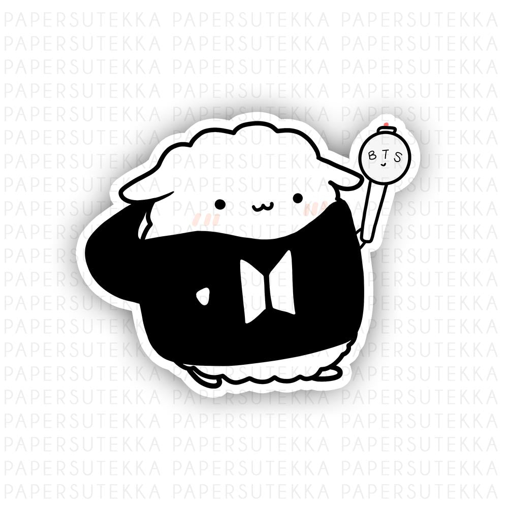 Load image into Gallery viewer, Mika BTS Hoodie Army Bomb Vinyl Sticker