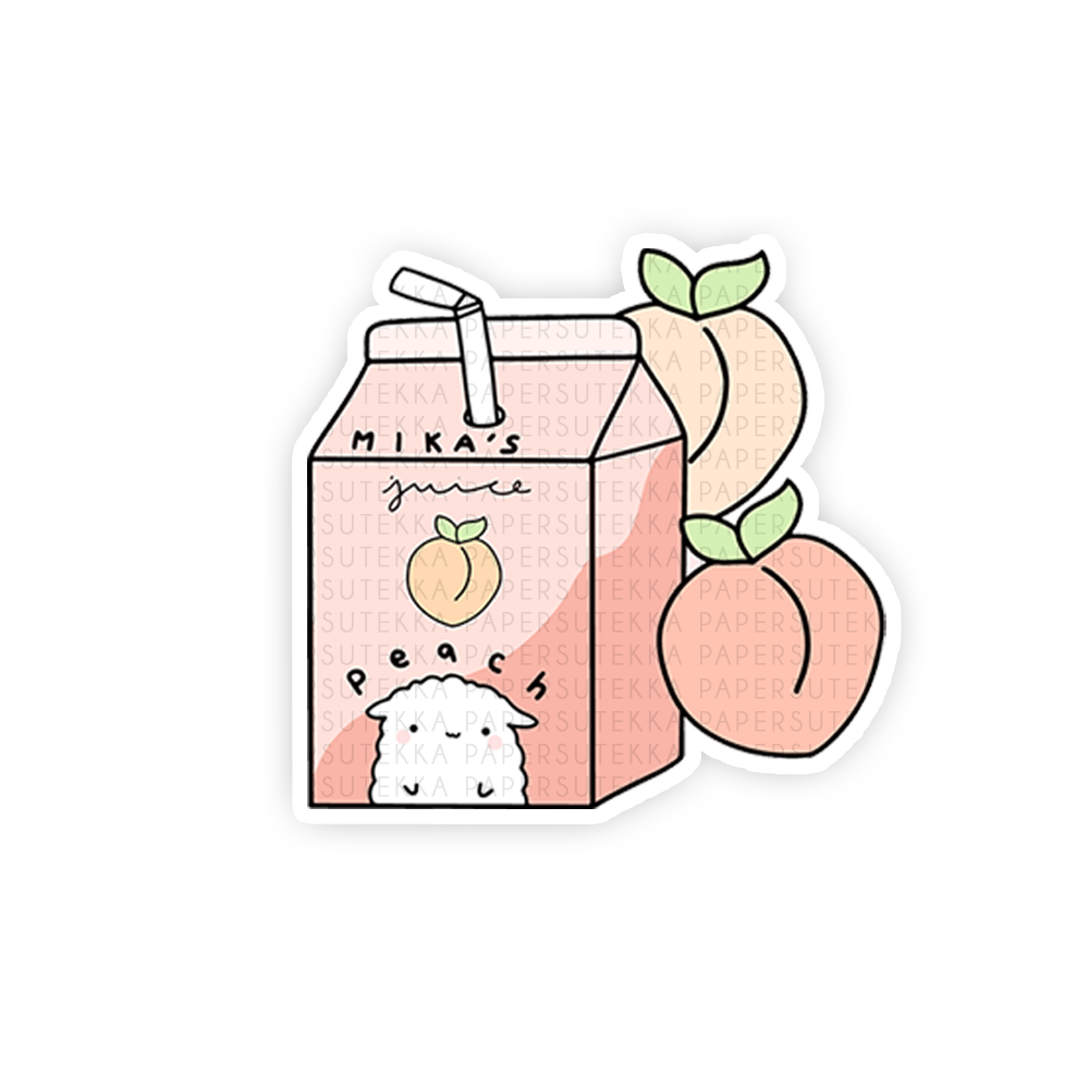 Load image into Gallery viewer, Mika Peaches Carton Vinyl Sticker