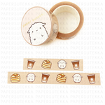 Mochi Coffee and Pancake Washi Tape
