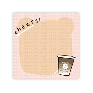 Load image into Gallery viewer, Mochi Coffee Toast Memo Pad - Paper Sutekka