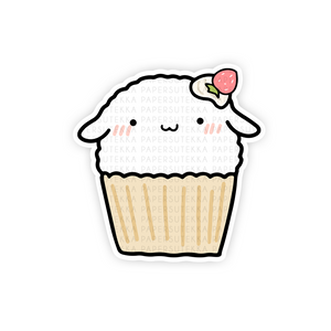 Load image into Gallery viewer, Mochi Cupcake Vinyl Sticker - Paper Sutekka