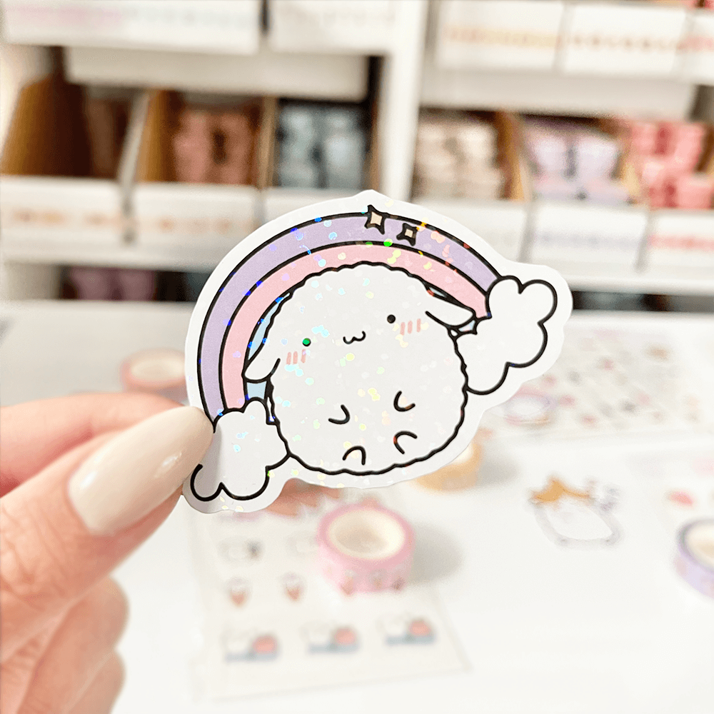 Load image into Gallery viewer, Mochi Rainbow Vinyl Sticker - Paper sutekka