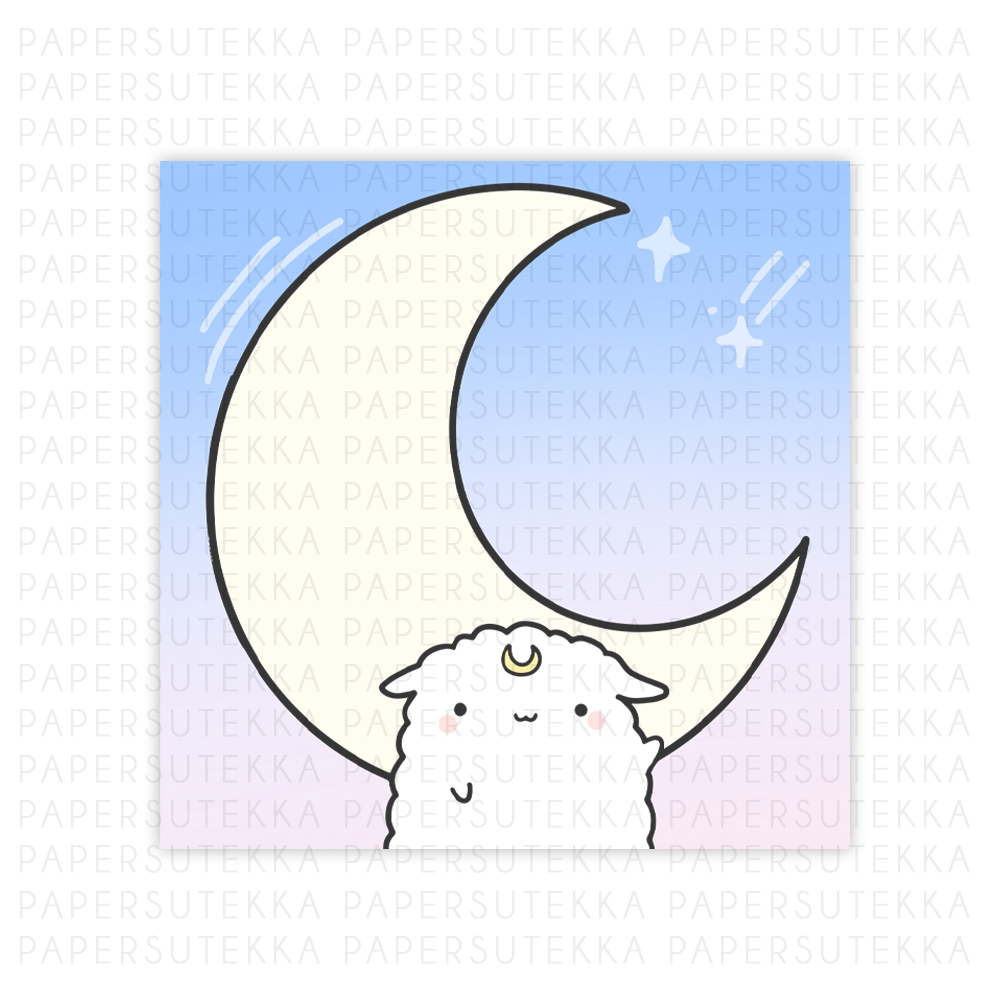 Load image into Gallery viewer, Dreamy Mika Memo Pad: Moon - Paper Sutekka