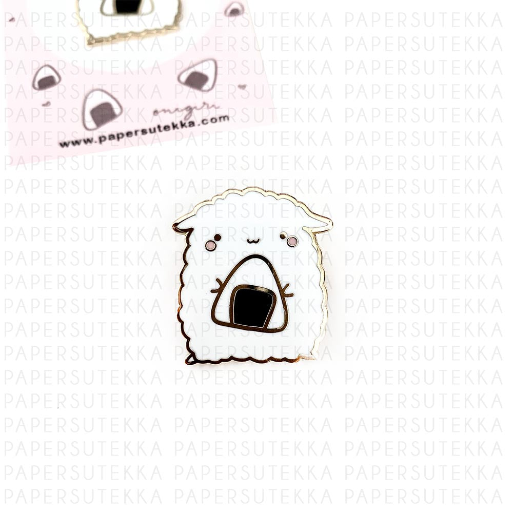 Load image into Gallery viewer, Mika Onigiri Enamel Pin