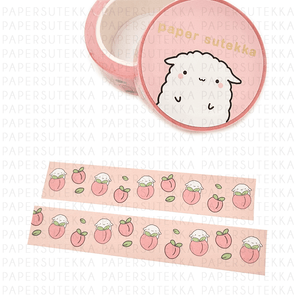 Load image into Gallery viewer, Mochi Peach Fruit Washi Tape - paper sutekka