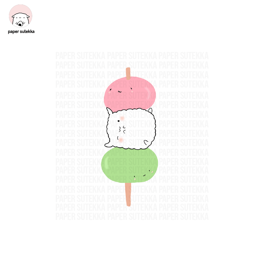 Load image into Gallery viewer, Mika Dango Vinyl Sticker - Paper Sutekka Kawaii Vinyl Sticker Shop