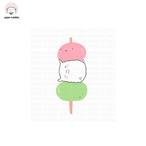 Mika Dango Vinyl Sticker - Paper Sutekka Kawaii Vinyl Sticker Shop