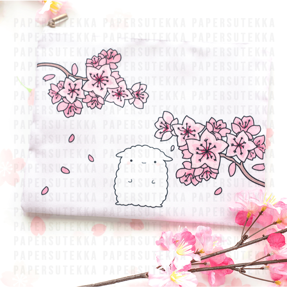 Mika Cherry Blossom Pencil Pouch - Paper Sutekka