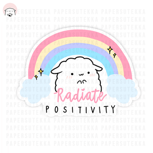 Load image into Gallery viewer, Mika Rainbow Positivity Vinyl Sticker