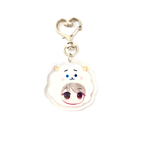 Load image into Gallery viewer, BTS Inspired Chibi Head Acrylic Keychains