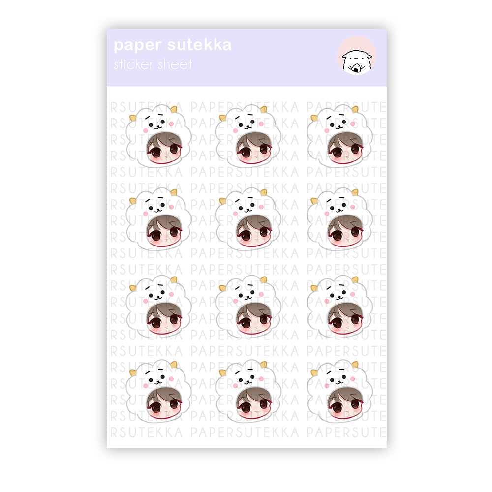 Jin Chibi Sticker Sheet