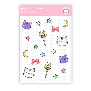 Load image into Gallery viewer, Sailor Deco Sticker Sheet