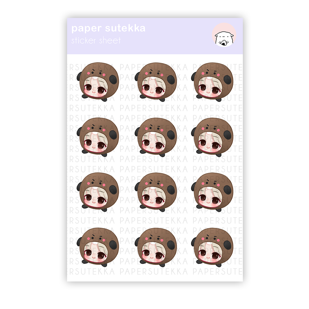 Suga Chibi Sticker Sheet