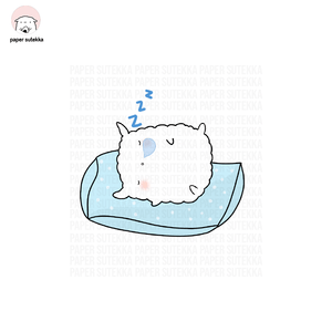Mika Sleeping on Pillow Vinyl Sticker - Paper Sutekka Kawaii Vinyl Sticker Shop