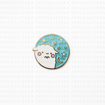 Mika Starry Night Blue Glitter Enamel Pin