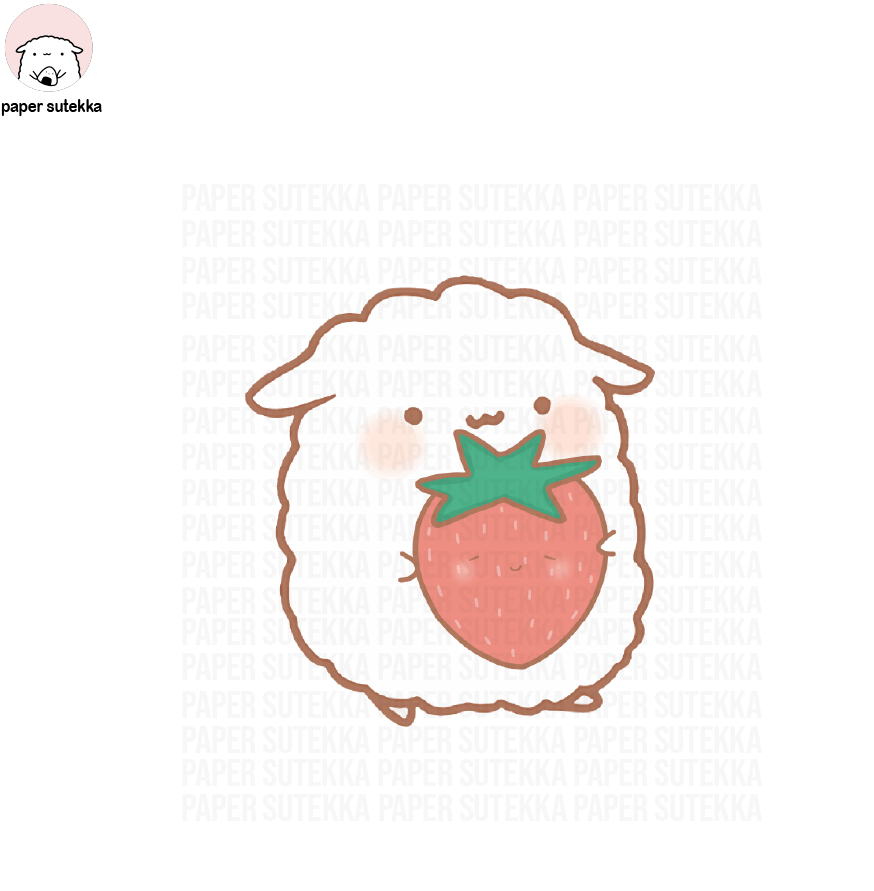 Mika Strawberry Fruit Vinyl Sticker - Paper Sutekka Kawaii Vinyl Sticker Shop