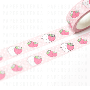 Load image into Gallery viewer, Mika Strawberry Washi Tape - Paper Sutekka Kawaii Stationery Shop