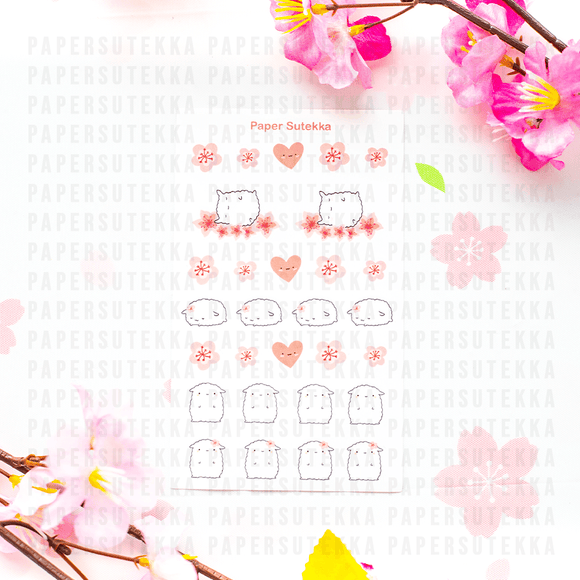 Mika Cherry Blossom Mini Sticker Sheet - Paper Sutekka Sticker Shop