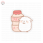 Mika Yogurt/Yakult Inspired Vinyl Sticker 1