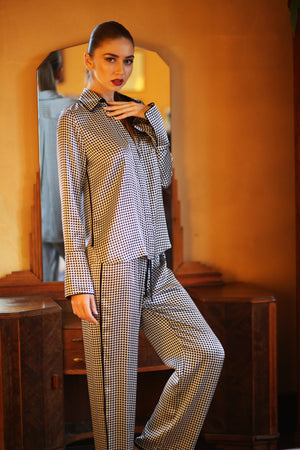 Sleep No More Houndstooth Pajama Set