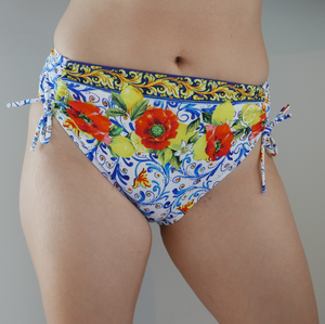 La Folie Azulejos Mid-Rise Swim Bottom