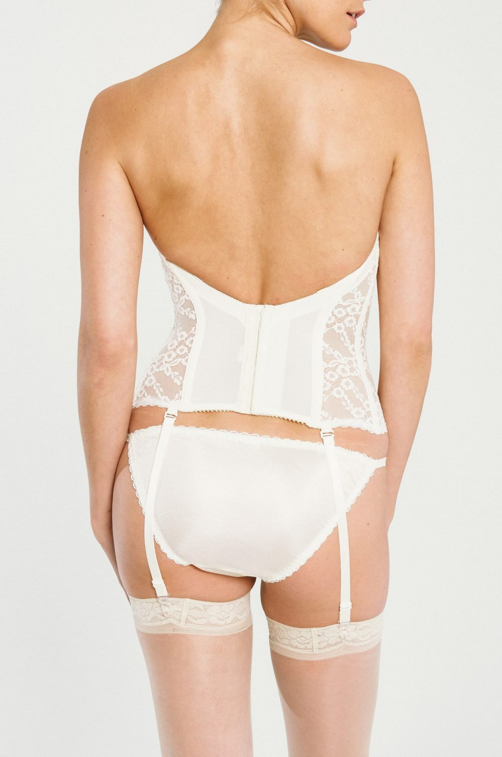Lace Low Back Bustier