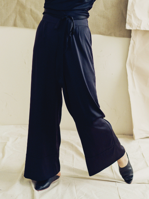 The Great Eros Wide Leg Silk Pant