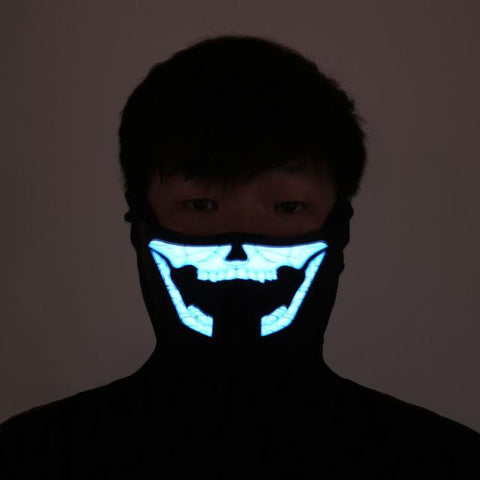 LED GLOWING RAVE MASKS
