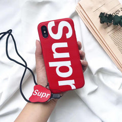 Red Supre iPhone Case