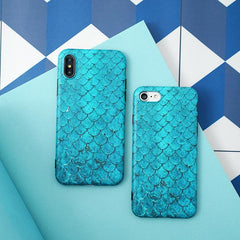 Blue Scale iPhone Case