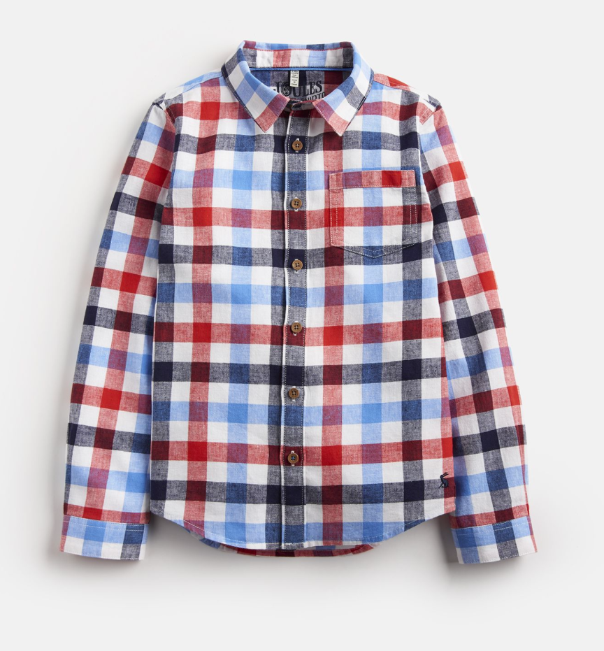 Sark Red Check Long sleeve Shirt