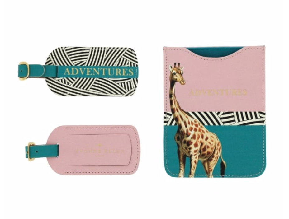 Giraffe Travel Set - Passport Holder & 2 Luggage Tags