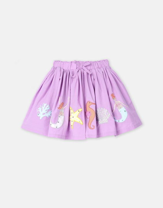 Ariel Luxe Woven Applique Skirt