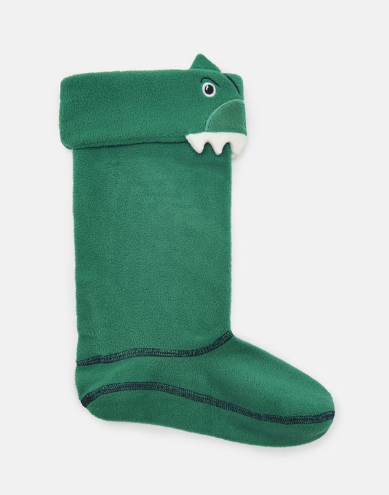Smile Green Dinosaur Welly Socks