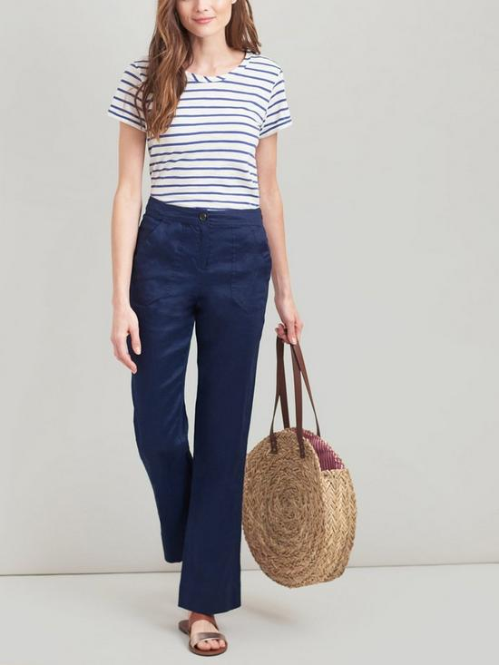 Lindy Blue Linen Trouser