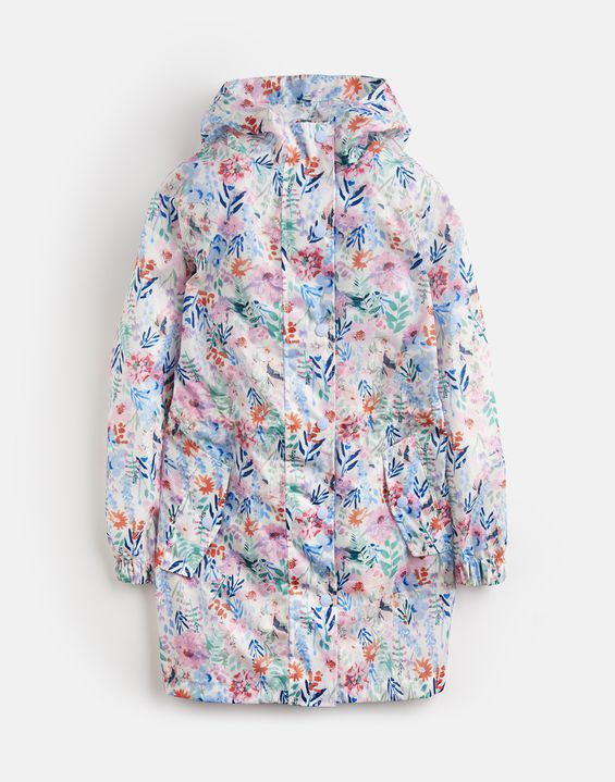 Golightly Cream Multi-Floral Packaway Waterproof Jacket