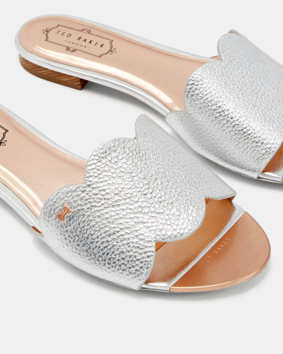 Ted Baker Rhaill Leather Scallop Sliders