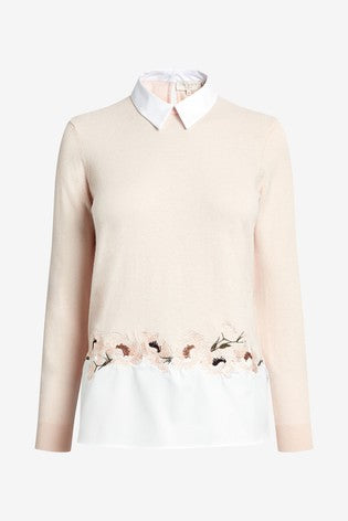 Ted Baker Serynaa Embroidered Mockable Jumper