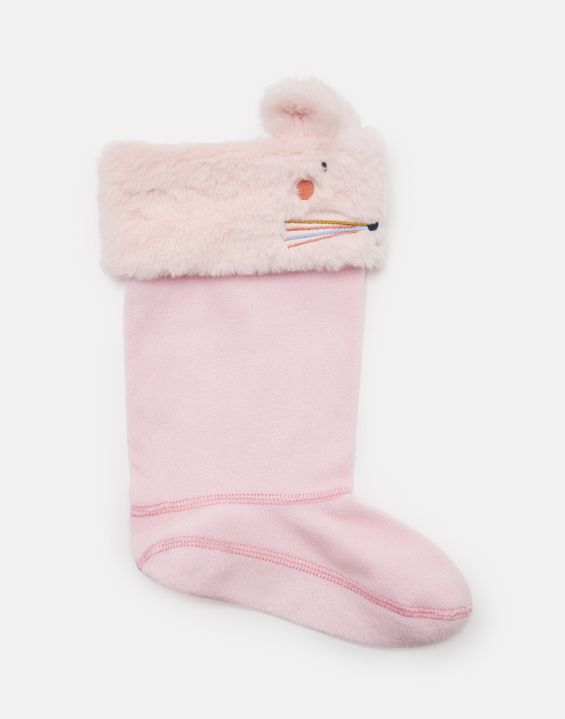 Smile Pale Pink Mouse Welly Socks