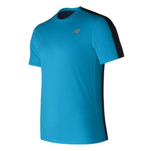 Men's Short Sleeve T-Shirt New Balance MT73061MLE Blue