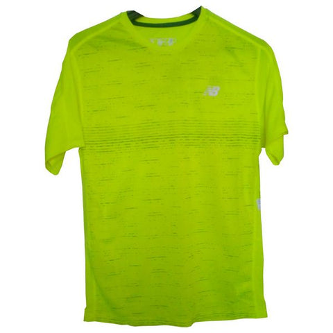 Men's Short Sleeve T-Shirt New Balance MT81274 THN Yellow Fluorescent