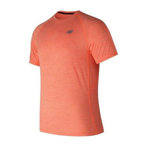Men's Short Sleeve T-Shirt New Balance MT81095 REP Red