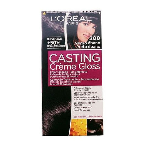Dye No Ammonia Casting Creme Gloss L'Oreal Make Up Ebony black