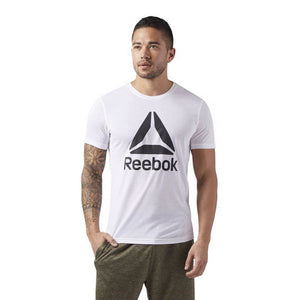 Men's Short Sleeve T-Shirt Reebok Wor Sup 2.0 Tee White