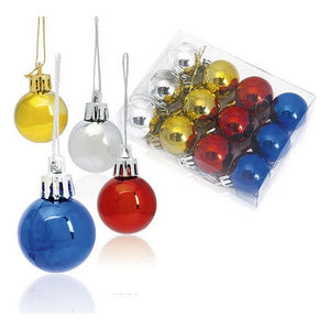 Christmas Baubles (12 pcs) Metallic 143360