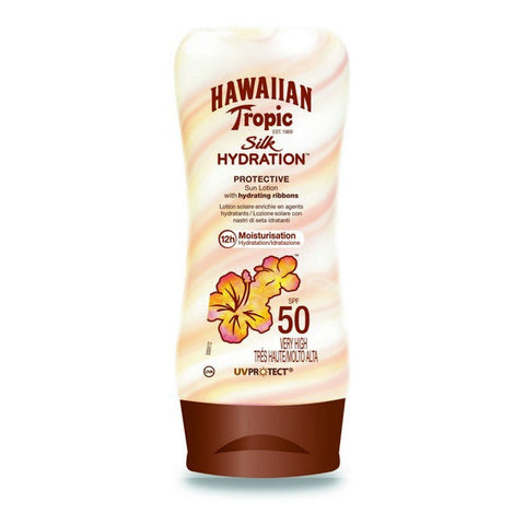 Sun Lotion Silk Hawaiian Tropic Spf 50+ (180 ml)