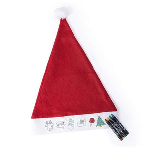 Father Christmas Hat to Colour-in 145598