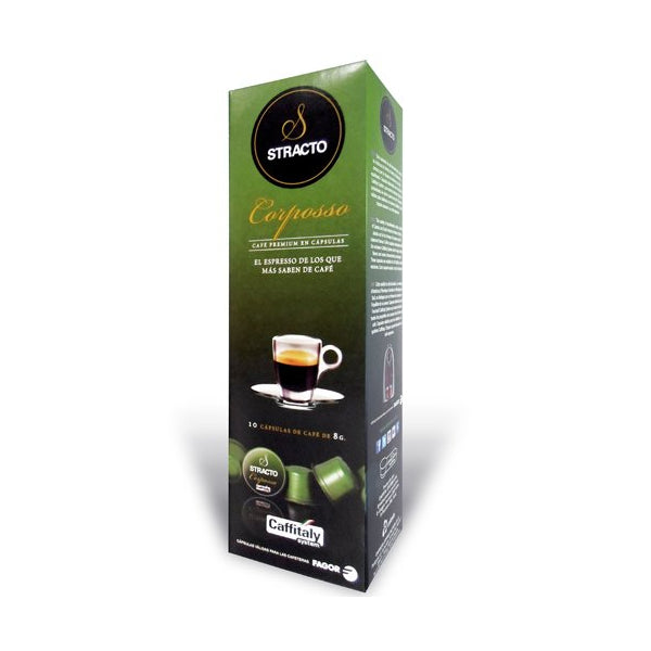 Coffee Capsules with Case Stracto 80583 Corposso (80 uds)