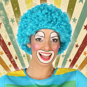 Curly Hair Wig Male clown Blue 119822
