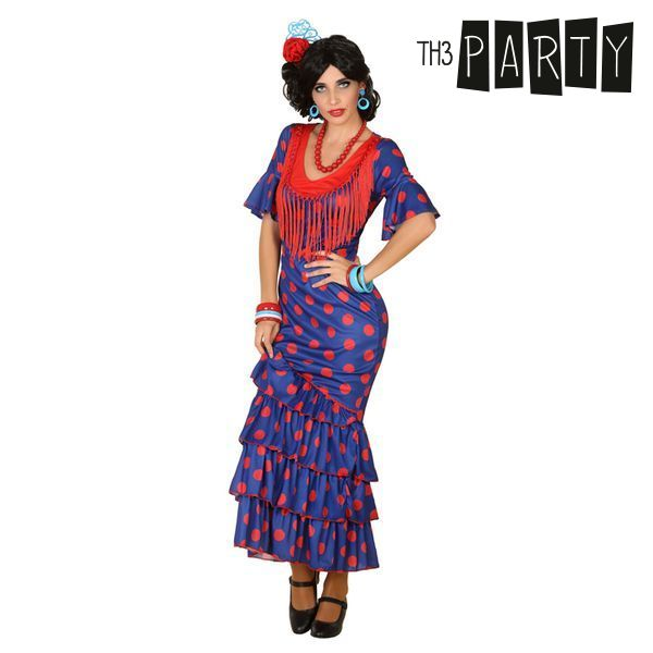 Costume for Adults Flamenco dancer Blue